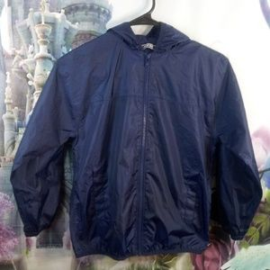 Navy blue land's end rain coat